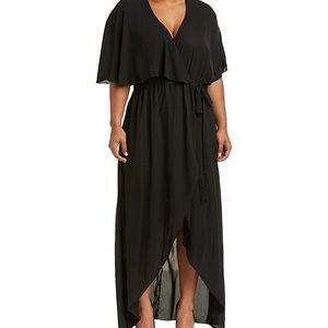 Melissa McCarthy Wrap Style Hi-lo Dress